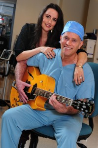 Palisadian Dr. Charles Brunicardi and fiancée Robbi Sanchez work together at UCLA Medical Center Santa Monica. Brunicardi released his full-length album this year. Rich Schmitt/Staff Photographer