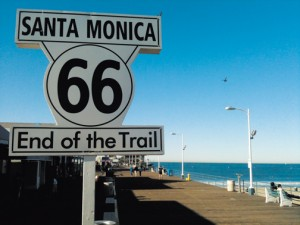 The end of Route 66 on the Santa Monica Pier       Courtesy: Dan Rice