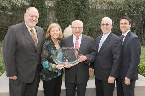 Cantor Jay Frailich, Palisadians Janet and Tom Unterman, Rabbi Morley T. Feinstein and Rabbi Joel Thal Simonds.  Photo Courtesy: University Synagogue