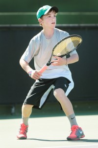 Jake Sands made the quarterfinals in the Boys 14 singles division. / Photo: PTC
