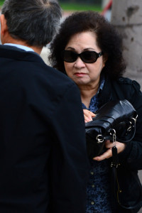 Marguerite Vuong entering the Airport Courthouse this morning.  Photo by Rich Schmitt/Staff Photographer