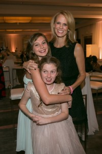Heidi Epstein, Vice-Chairman of the Rett Syndrome Research Trust, with daughters Jennifer (left) and Hannah at the Seventh Annual Hope for Hannah and Gaby Gala on Oct. 29. Photo: Matt Garcia/Curtis Dahl Photography