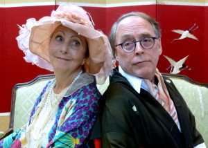 Yvonne Robertson and Phil Bartolf  play characters David and Judith Bliss. Photo courtesy of Theatre Palisades