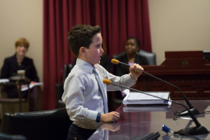 "Speaking at the hearing, Gavin says Rick Caruso's Palisades Village project will ""help the community to have fun."" Photo: Jayrol San Jose"